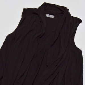 Michael Stars Tops - Michael Stars Black Sleeveless Open Vest Sz M
